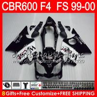 8Gifts 23Colors Carrosserie Pour HONDA CBR 600 F4 99-00 CBR600FS FS 30HM4 Noir Ouest CBR600 F4 1999 2000 CBR 600F4 CBR600F4 99 00 Kit de carénage
