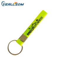 200 Pçs / lote Alta qualidade de impressão da tela personalizada logotipo chaveiro de borracha para presentes Y081901
