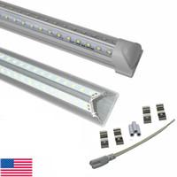 V-образные 4FT 5FT 6FT 8FT светодиодные лампочки T8 встроенные светодиодные трубки двойные стороны SMD2835 светодиодные магазины света для склада гараж мастерской сарай