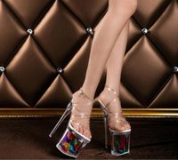 2017 Women Pumps Sandals Stylish Crystal High Heels Crystal ...