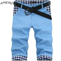 Wholesale-Hot Selling Men Slim Fit Shorts Moda Verão Big Size Mens Designer Shorts Patchwork Pantalones Cortos Hombre Casual Marcas