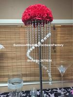 Kristallkristallblumenstand des kunden gemachten heißen neuen Entwurfs für Hochzeitsmittelstücke
