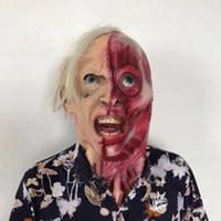 Wholesale Halloween Adult Mask Zombie Mask Latex Bloody Scar...
