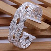 Оптовая торговля-розничная низкая цена Рождественский подарок, бесплатная доставка, новый 925 серебряный браслет моды B033