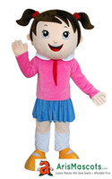 6064 New lovely girl mascot costume suit Human People charac...