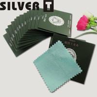 Franelette Paño de limpieza de plata Paño de pulido de plata Paños de limpieza de joyas 8.5x8.5cm 100pcs / lot