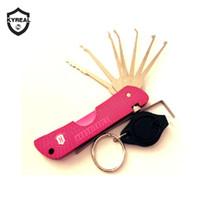 Outils de serrurier chaud Haoshi Outils Fold Lock Pick Rose Couleur Lock Picks Outils Jackknife Jack Couteau Cadenas Lock Pick Livraison gratuite