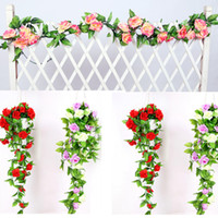 240cm Fake Flowers Silk Roses Ivy Vine Artificial Flowers Wi...