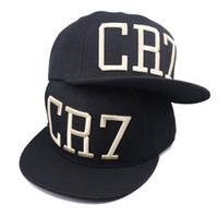 Venta al por mayor moda Soccer Star Ronaldo CR7 gorra de béisbol sombrero  para hombres mujeres deportes Hip Hop Caps negro azul snapback gorra del  sombrero 1a8aca8153e
