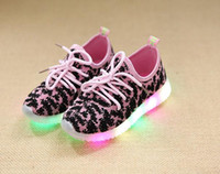 Children LED light shoes children sports shoes fashion on ca...