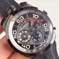 패션 럭셔리 시계 브랜드 새로운 정통 Bomberg Bolt 68 쿼츠 크로노 블랙 PVD 고무 스트랩 시계 45mm 남성 시계 최고 품질