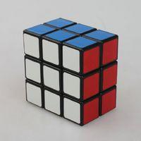 Lanlan LL 2x3x3 IQ 테스트 매직 큐브 속도 퍼즐 큐브 화이트 / 블랙 PVC 마우스 스티커 큐피 매직 퍼즐 속도 클래식 장난감 무료 배송