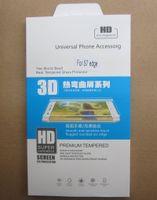 Film de protection protecteur d'écran LCD en verre trempé incurvé 9H pour Samsung Galaxy S6 S7 S8 S9 bord plus avec emballage de détail
