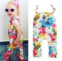 ab156524f216 New Arrival. New Summer Infant Baby Florals Rompers Kids Girls Flowers  Printed Slip Overalls Jumpsuit ...