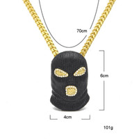 The latest super cool diamond- studded black masked male anti...