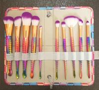 ماكياج ميرميد فرش مجموعات مستحضرات التجميل فرشاة 10 لون مشرق أدوات ماكياج المسمار فرشاة عرقوب لولبية عرقوب