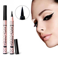 Wholesale-2016 New Black Long Lasting Eye Liner Pencil Waterproof Eyeliner Smudge-Proof Cosmetic Beauty  Liquid Eyeliner Pen