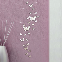 30PCS Butterfly Combination 3D Mirror Wall Stickers Home Dec...
