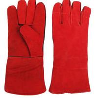 Saldatura SALDATRICI Guanti morbidi in pelle di vacchetta Plus Guanti per proteggere la saldatura manuale guanti resistenti all'usura e all'isolamento termico