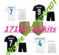 top quality 2017 2018 children Real Madrid kids kit soccer J...