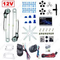 Feeldo Universal Auto 2-deuren Elektrische Power Venster Kits met 3 Stks Schakelaars Wire Harness DC12V # 3781