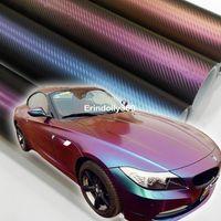 152 * 30 см 3D углеродного волокна виниловые автомобилей оберточная фольга стикер автомобиля украшения хамелеон наклейки для стайлинга автомобилей бесплатная доставка