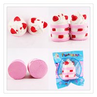 Новый Rising Squishy PU Ice Cream Squishy Strawberry Cake Squishy Decompression Toys Cute Phone Charms Pendant Stress Relief Toy Free DHL