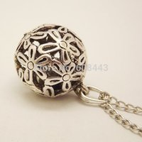 ball and chain costume. wholesale-nq006 tibetan silver flower hollow 3d ball pendant costume long chain vintage necklace jewelry bijouterie for women girl\u0027s and