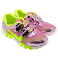 Kids Sneaker Sports Shoes Girls Boys Casual Shinning Patent ...