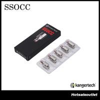 정통 Kanger SSOCC 코일 0.5ohm 1.2ohm 1.5ohm Ni200 .15ohm 켄저 Nebox / Subvod 키트 용 교체 가능한 코일 헤드 스테인레스 스틸 OCC
