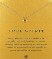 With card! cute Dogeared Necklace with Dragonfly (free spiri...