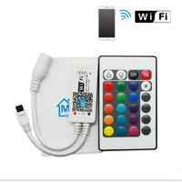 Contrôleur RGBW de contrôleur de RVBW de MIni de LED avec 24key à distance IOS / téléphone portable sans fil pour la bande DC5-12V de RGB / RGBW LED