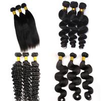 Virgin Hair Weages Brasilian Human Pein Bundles Wave Wave Wets 8-34 pulgadas Sin procesar Indian Indian Malasian Mindas Minkol Mink Extensiones de cabello