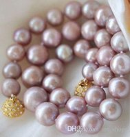 8- 9MM Genuine Natural Lavender akoya cultured pearl necklace...