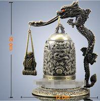 Bronzo felice felice piccola campana drago artigianato grande squisita antica campana Longzhong Zeng Hou B