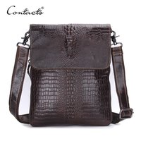 CONTACT' S Fashion Designer Genuine Leather Crossbody Ba...