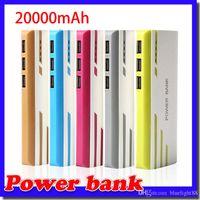 Romososs 20000mah Power Bank 3USB Batería externa con cargador portátil LED para todos los teléfonos Android del iPhone X Samsung S6