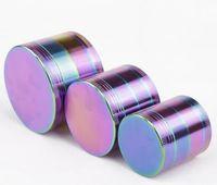 아연 합금 아이스 블루 연기 필러 직경 40MM 50MM 55mm 63MM 무지개 분쇄기의 4 개의 레이어