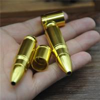 متوسطة رصاصة الألومنيوم معدن التدخين الأنابيب الشيشة النرجيلة عشب مطحنة هدية المتداول آلة التبغ السجائر بالجملة