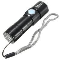 Led 토치 라이트 5 볼트 USB 충전식 줌이 가능한 빛 Q5 방수 편리한 손전등 사냥 캠핑 자전거 블랙 / 골드 컬러