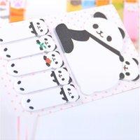 Nuevo 10 Sets / Lote Etiqueta Creativa Mini Forma de Panda Animal Notas Adhesivas Bloc de notas Niño Niños Regalos Escuela Oficina Suministros de papelería