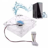 냉각 팬 120mm 팬 4 개 컴퓨터를위한 4 개의 LED 청색 냉각기 PC 케이스 냉각 냉각 # H029 #