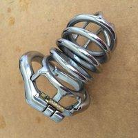 Nouvelles cages de pénis en acier inoxydable circlips 80mm cage coq mâle (38mm 41mm 51mm 57mm) chasteté métal Circlip sex toy pour les hommes