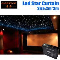 내화 2M * 3M 라이트 커튼 LED 스타 커튼 90V-240V RGBW 컬러, 5mm Tyanshine LED 스타 헝겊 웨딩 배경 LED 귀화품 공장 가격