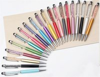 Crystal Rhinestone Slim Stylus Ink Ballpoint Touch Pen for C...