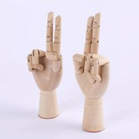 Wooden DIY Mode Hand Sculpture Finger Maniquí Dedo De Mano De Madera - Molde Ajustable para Dest Office Home Decor 10