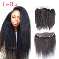 Brazilian Ear To Ear 13X4 Lace Frontal Leila Hair Kinky Stra...