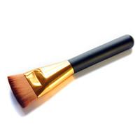 50 PCS Mode Professionnel Cosmétique Pro 163 Brosse Contour Plat Grand Visage Mélange Pinceau De Maquillage Portable Make Up Outil B01007 DHL En Gros