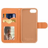 3D المعين نمط الهاتف الخليوي المحفظة حقيبة القضية غطاء جلد ثلاثي الأبعاد مع فتحة بطاقة الهوية حامل الجلد شل لفون 7 7 زائد