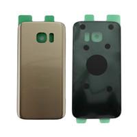 Originale nuovo vetro posteriore porta batteria con adesivo per Samsung Galaxy S7 G930 G930F coperchio posteriore Custodia Case parti di ricambio con logo